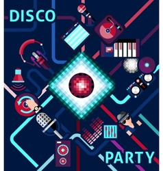 Disco Party Background vector image