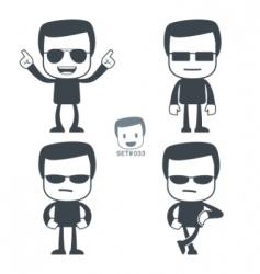 Macho icon man vector
