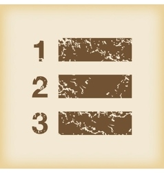 Grungy numbered list icon vector