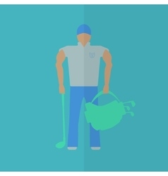 Golf player flat icon vector