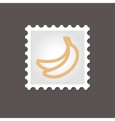 Banana stamp outline vector
