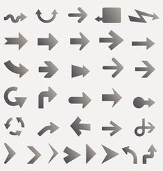 lots of black line arrows vector image