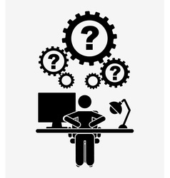 Thinking people design vector