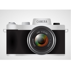 Mirrorless interchangeable lens digital photo vector