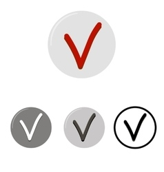 Check mark button icons vector
