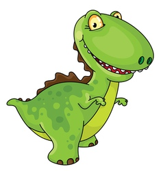 Laughing dinosaur vector