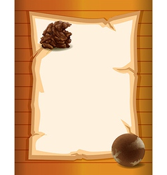 A blank paper vector image