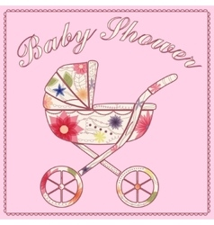 Baby shower pink vector image
