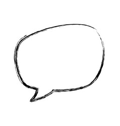 chat bubble speakbox vector image vector image