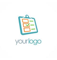 check list approve logo vector image