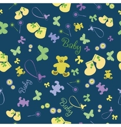 Cute Newborn seamless pattern vector image