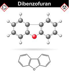 Dibenzofuran aromatic chemical compound vector image