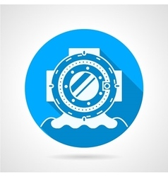 Diving helmet round icon vector
