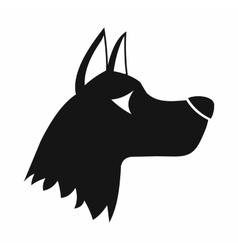 Doberman dog icon simple style vector
