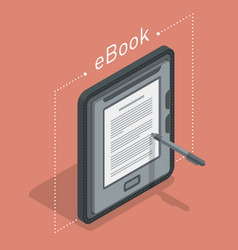 electronic books icon isometric flat vector image
