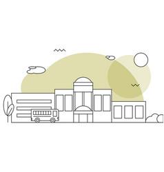 flat of school building vector image