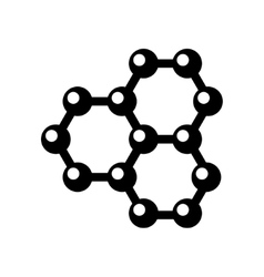 Graphene structure icon vector
