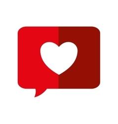 Heart bubble love romantic icon graphic vector