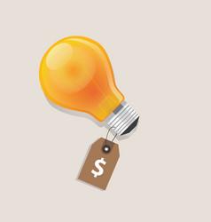 Idea has a price tag dollar symbol of money label vector