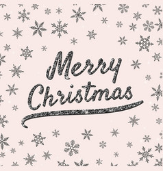 merry christmas greeting card with shiny black vector image