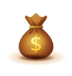 money bag - realistic style vector image