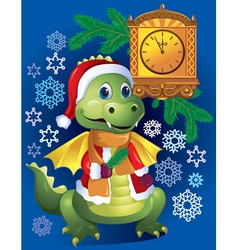 New Years dragon vector image vector image