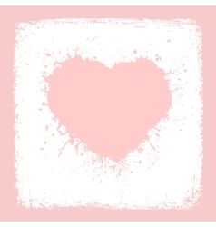 Paint heart from vintage texture paper valentines vector
