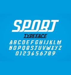 Retro style modern sport typeface vector