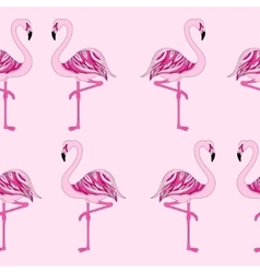 seamless pink flamingo vector image