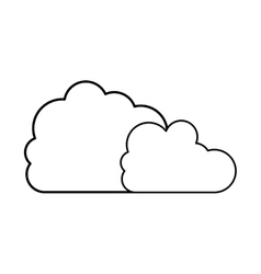silhouette two cloud in cumulus shape vector image vector image