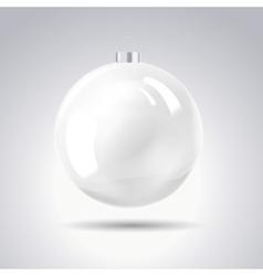 Sphere christmas ball vector image
