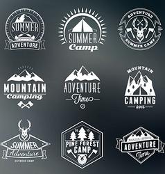 Summer holidays design elements set of hipster vector