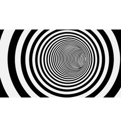 Black and White Circle Striped Abstract Tunnel vector image