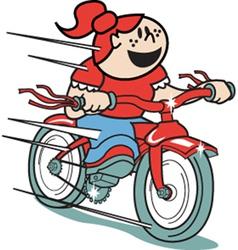 Girl on a bike vector image