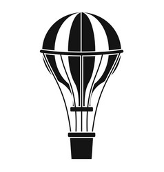 air balloon journey icon simple style vector image