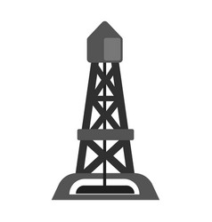 Oil rig oil industry production equipment flat vector