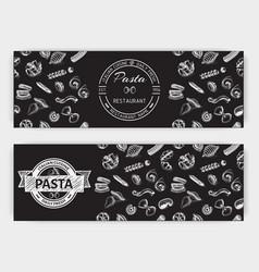 Sketch - pasta banner italian vector
