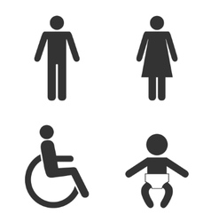 Set of toilet people signs vector