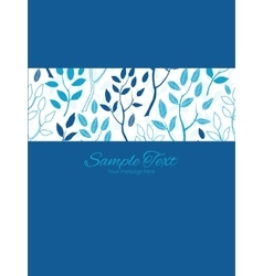 Blue forest stripe frame vertical card vector