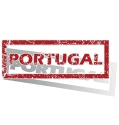 Portugal outlined stamp vector
