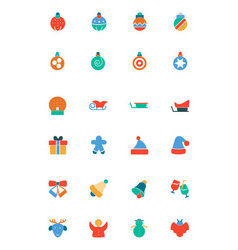 Christmas colored icons 2 vector