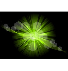 green explosive on the black vector image