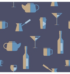 Seamless abstract background with drink beverages vector
