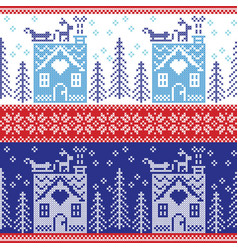 Gerbread house snow reinderr sleigh trees star vector