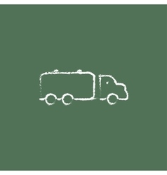 Truck liquid cargo icon drawn in chalk vector