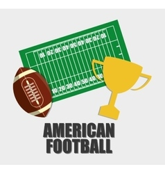 American football sport design vector