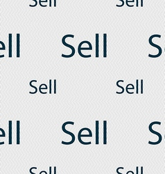 Sell sign icon contributor earnings button vector