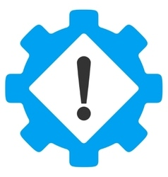 Industry problem flat icon vector