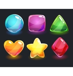 Cool shiny glossy colorful shapes vector