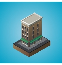 Isometric 3d residential building vector